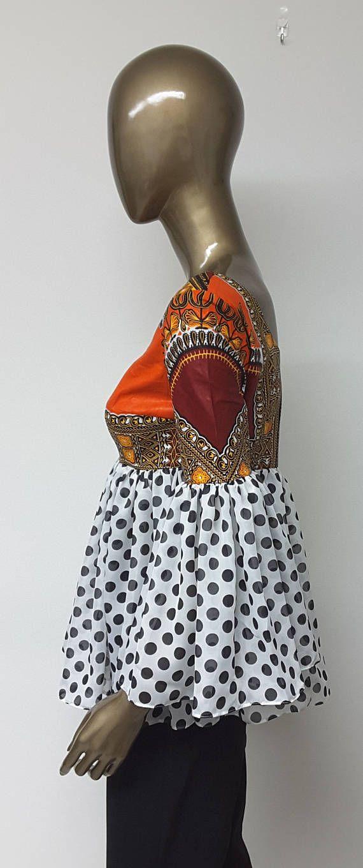 CHYFWAX Collection. African Print Chiffon Empire Waist. Low
