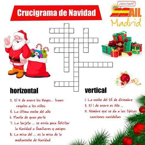 ¡Se acerca el gran día! Queda poquito para la Navidad y es importante conocer algunas de las palabras más usadas en #español, ¡pero vamos a aprenderlas jugando! ¡A ver quien consigue resolver este crucigrama! #learnspanish #funspanish