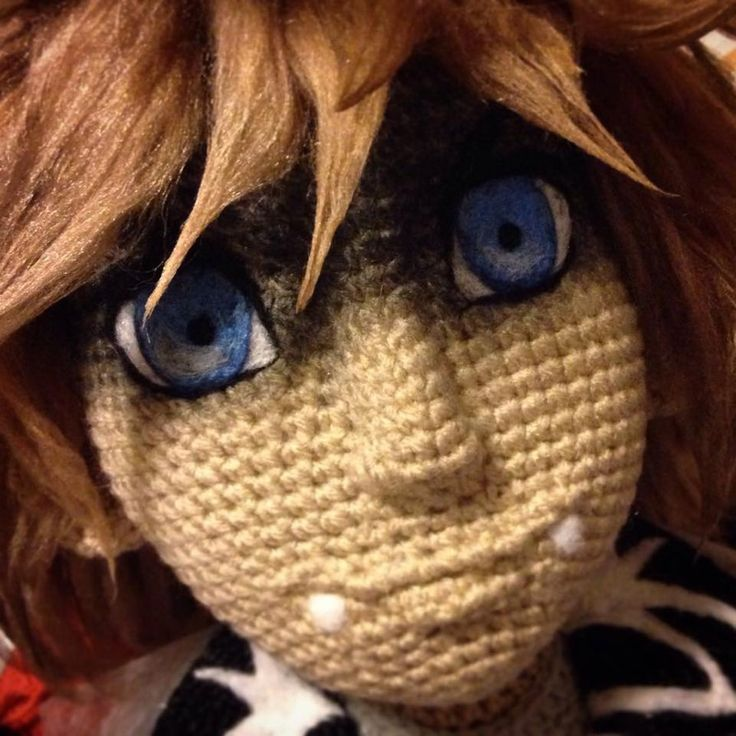 Amigurumi boy doll. Those eyes are amazing!!! (Inspiration).