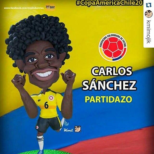 #Repost @kmimojik ・・・ Que grande!!!!! #carlossanchez  #copaamerica2015  #miseleccioncolombia  #colombia #SeleccionColombia  #manofthematch  #fuerzacolombia  #SeleccionColombia