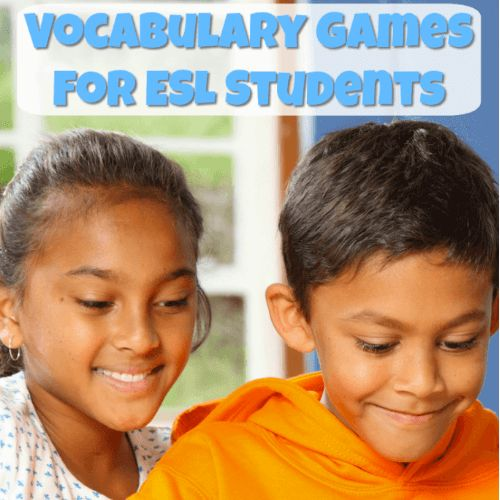 These vocabulary games for ESL students provide a fun way to practice target vocabulary words. There are games for individuals and groups in this list!
