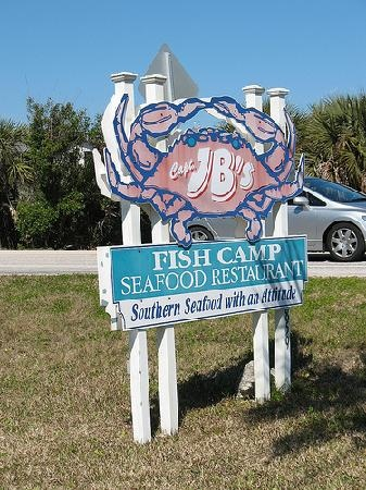 J.B.'s Fish Camp - New Smyrna Beach - One of my favorite old style cracker eatin' places. Simple and ample servings!  Good Shakin' Salts to be purchased at the Shack!