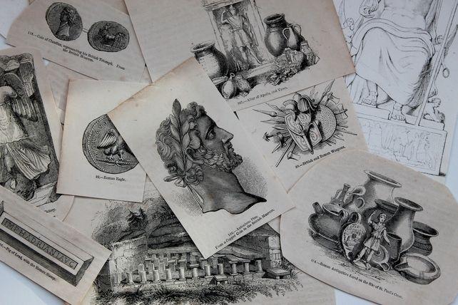 Antique Collage or Decoupage Paper -  Roman Theme £3.50