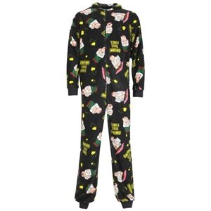 Family Guy Mens Pete Printed Onesie (Black)
