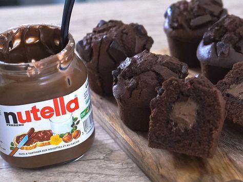 ヌテラ入りチョコレートマフィン by えもじょわ [クックパッド] 簡単おいしいみんなのレシピが230万品