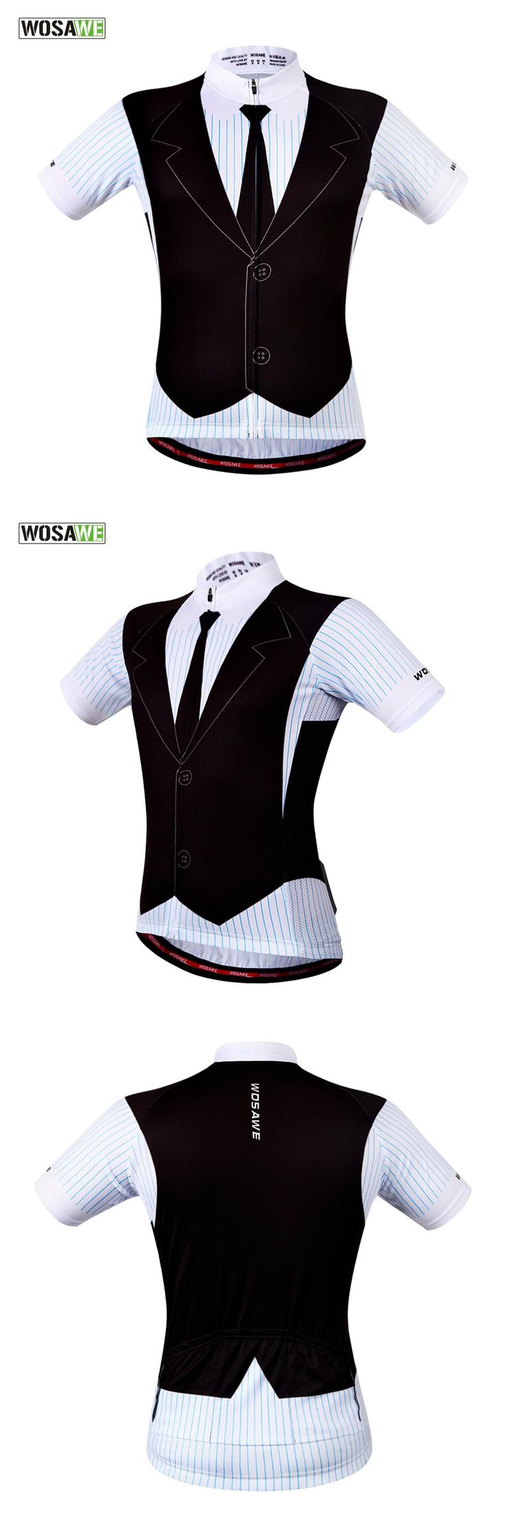 [Visit to Buy] WOSAWE Bicycle Bike Shirts Maillot Ciclismo Custom Cycling Jerseys Short Sleeve Quick-Dry Gentleman Cycling Tops #Advertisement