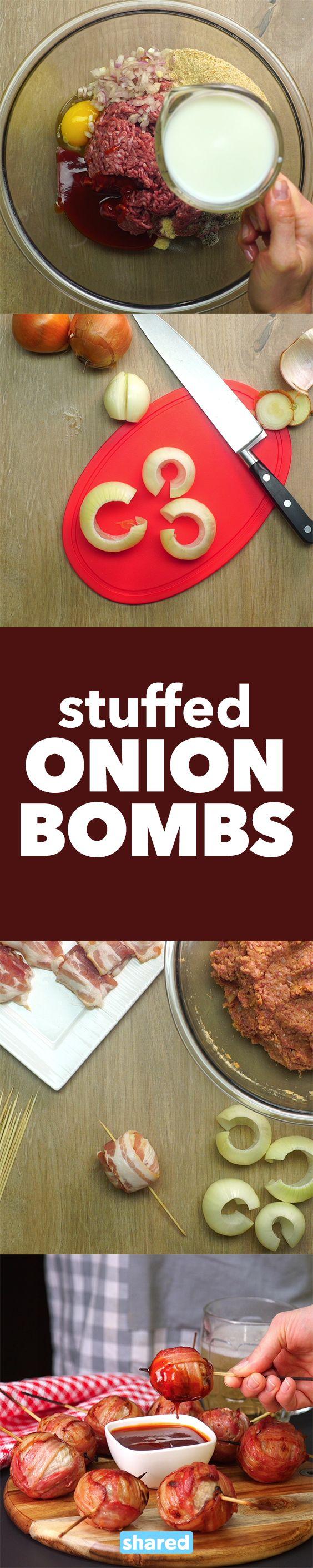Stuffed Onion Bombs