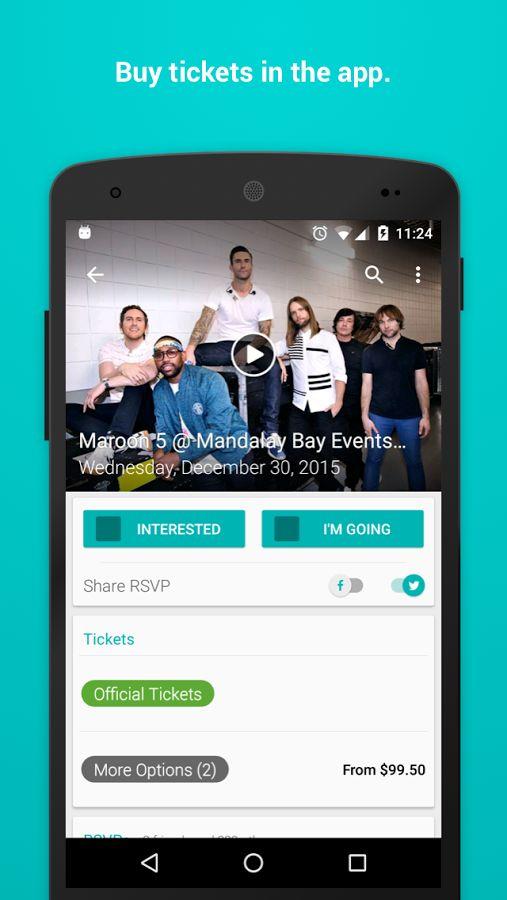 Bandsintown Concerts- screenshot