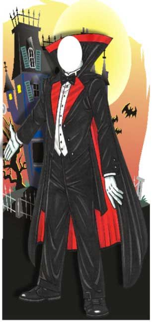I could paint this:   Halloween Party Photo Op, Dracula / A Dracula photo op for your Halloween party  $87.95