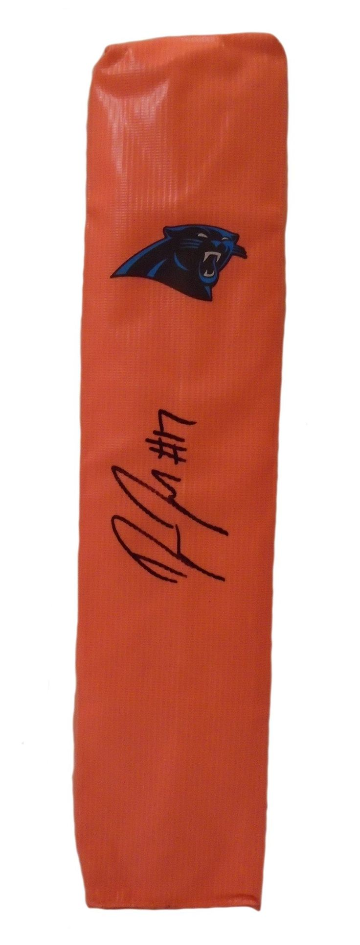 Devin Funchess Autographed Carolina Panthers Full Size Football End Zone Touchdown Pylon. This is a brand-new custom Devin Funchess signed Carolina Panthersfull sizefootball end zone pylon. This pylon measures 4inches (Width) X 4inches (Length) X 18inches (Height). Devin signed the pylonin black sharpie.Check out the photo of Devin signing for us. ** Proof photo is included for free with purchase. Please click on images to enlarge. Please browse our websitefor additional NFL…
