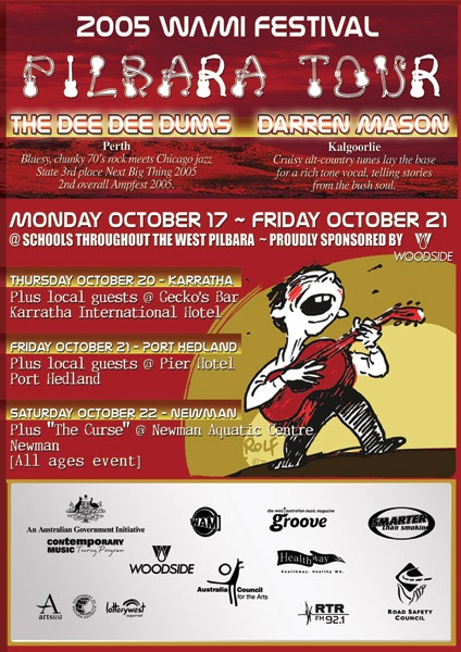 "The 2005 WAMi Festival ""Pilbara Tour"" poster was great fun to make! Gotta love sharing Rolf's artwork!"