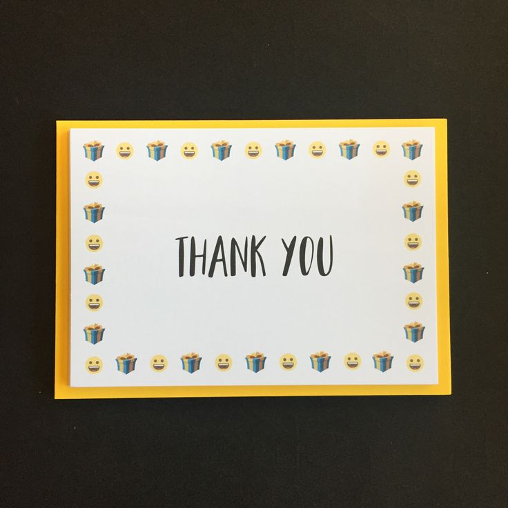 PACK OF 8 THANK YOU CARDS - emoji