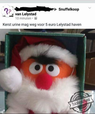Dat is plas een origineel kerstcadeau! #taalvout (Met dank aan Karin van Ooijen!)
