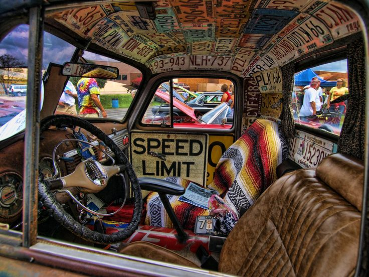 Rat Rod Interior | hope you will like this. Get more amazing truck photos & memes at www.dieseltees.com #dieseltruck #dieseltees #ratrod                                                                                                                                                      More