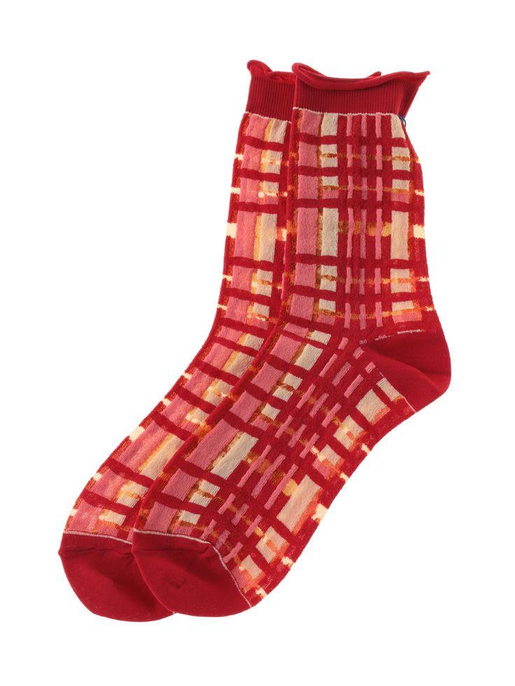 Checkered socks | Jocomomola de Sybilla | Itokin fashion mail order site