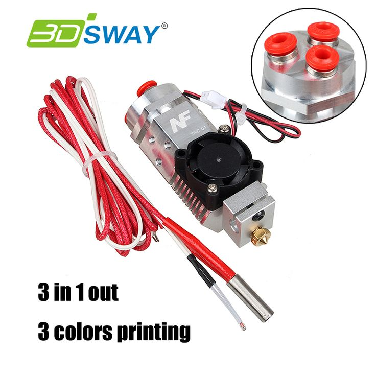 ==> [Free Shipping] Buy Best 3D printer remote 3 in 1 out extruder kit 12V fan 1.75mm filament compatible with V6/bulldog/titan Mix 3 colors metal extrusion Online with LOWEST Price | 32815584199