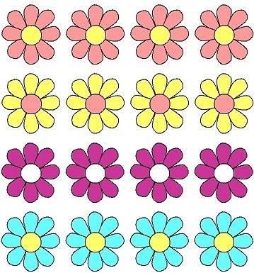 Fleurs en couleur
