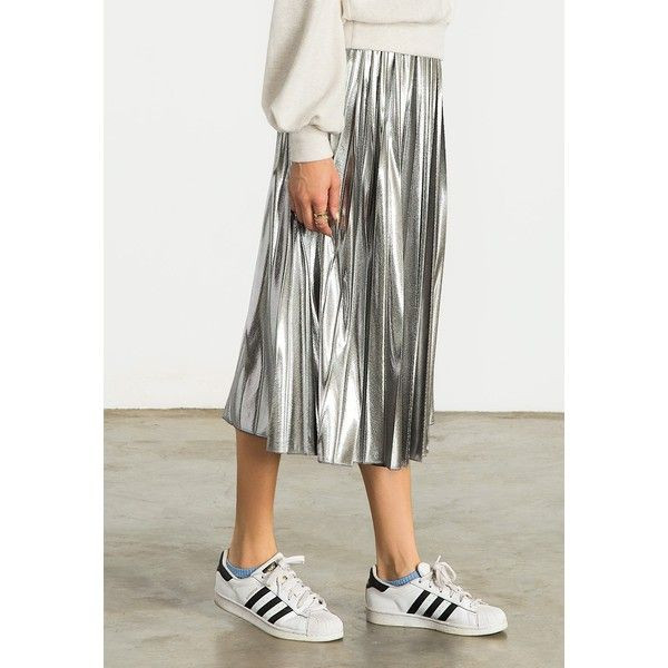 25  best ideas about Silver skirt on Pinterest | Women's metallic ...