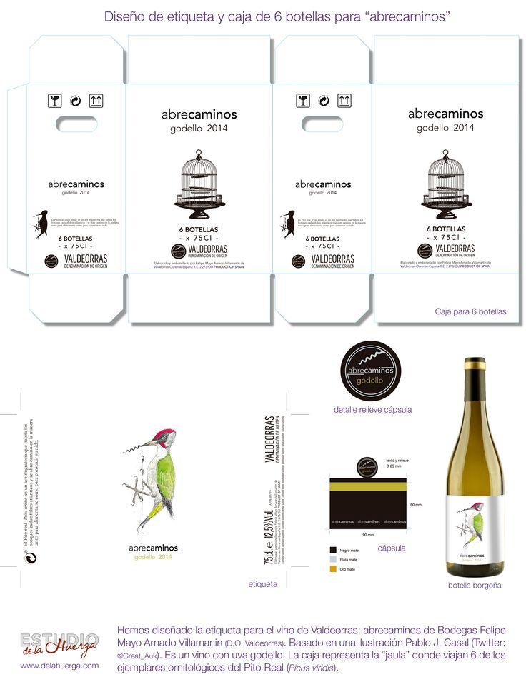diseño de etiqueta para vino abrecaminos