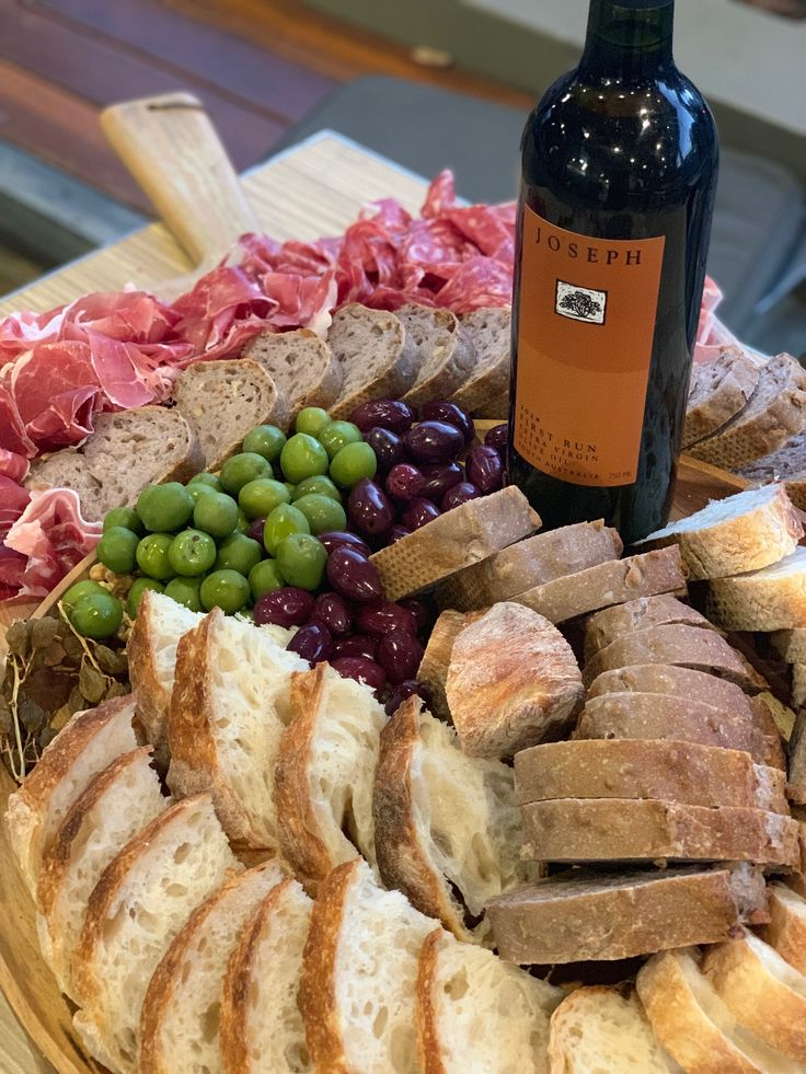 Bread, EVOO and Charcuterie Board (With images