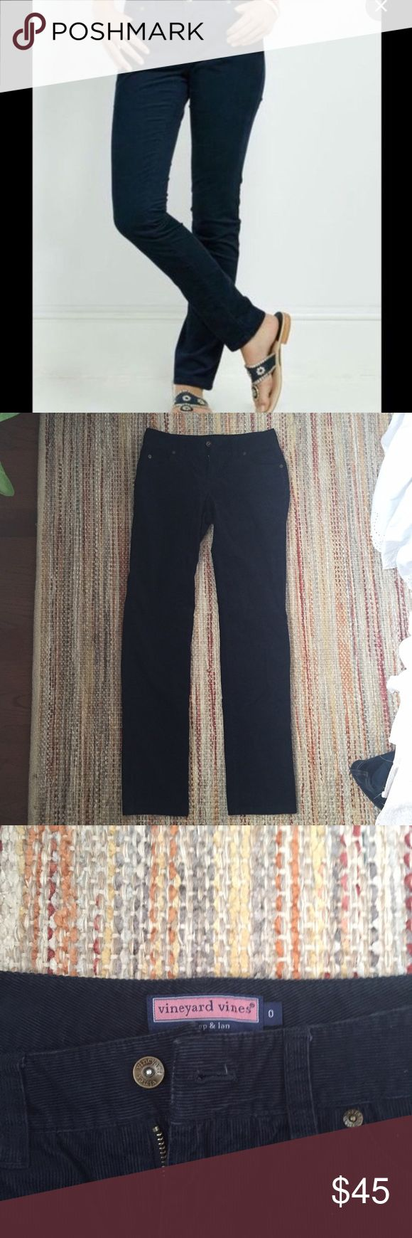 LIKE NEW Navy Vineyard Vines Cord Pants Great condition - bought from another seller but were too small on me! I'm willing to go lower on 🅿️🅿️ or eBay, but I want to make back what I paid! Vineyard Vines Pants