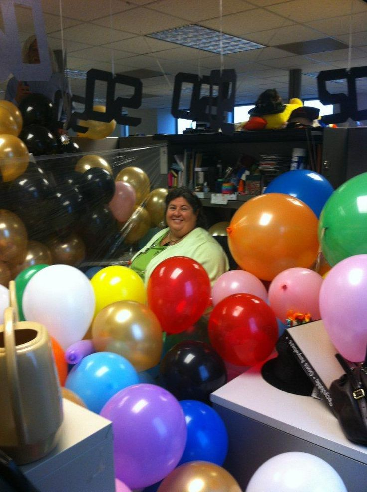 Office prank 50th birthday office cubicle fun pinterest for 50th birthday decoration ideas for office