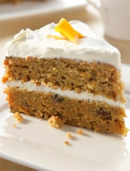 Layered honey cake with image from getty