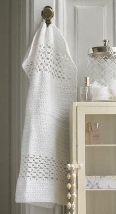 Forkæl gæsterne med et bomuldshåndklæde i god gammeldags kvalitet