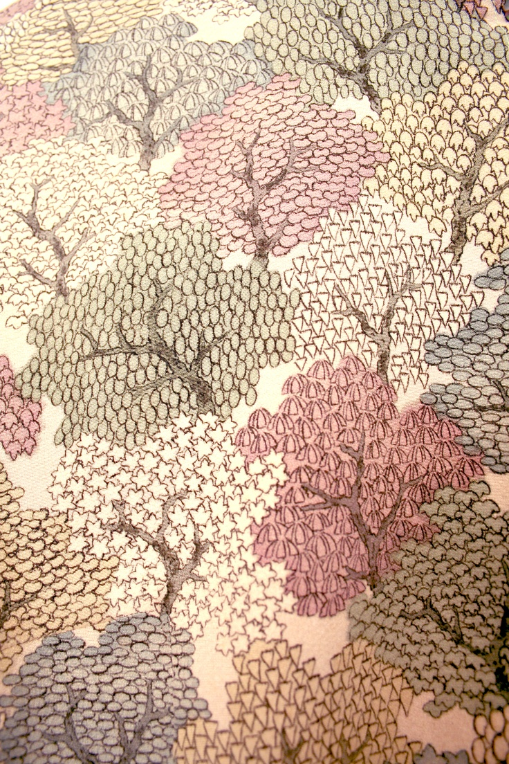Tree pattern kimono fabric - would love to see this as a quilt!