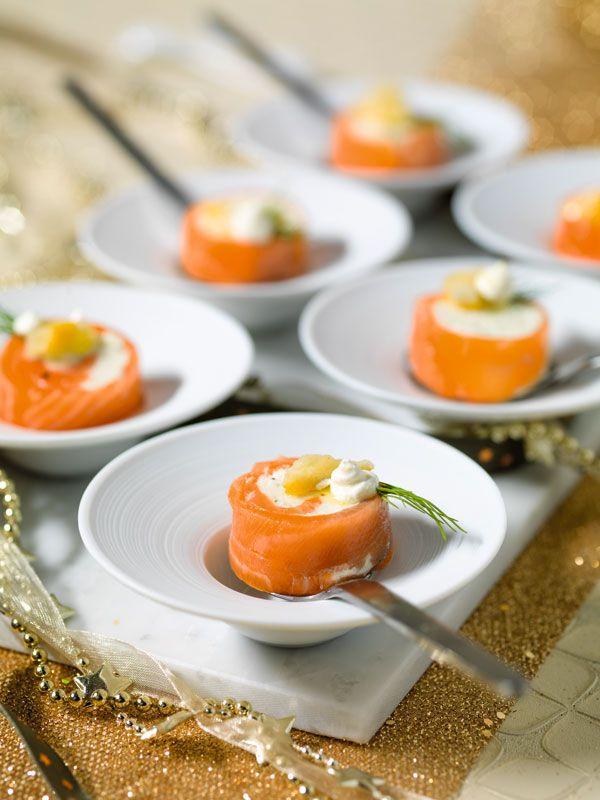 Opgerolde zalm met fijne kruidenkaas, gekonfijte citroen, dille- en citroenolie - Sparretail !