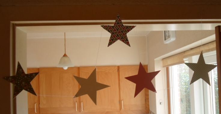 Doorframe decorated with stars.