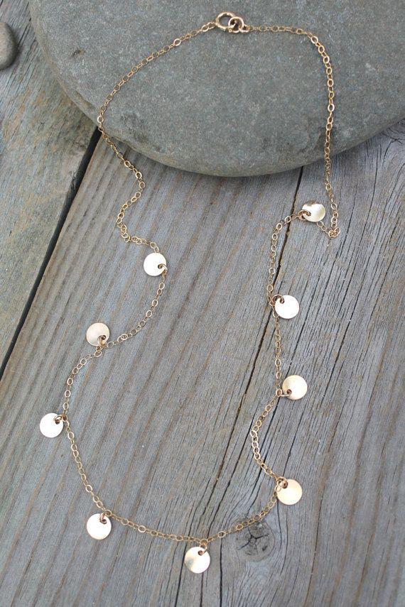Goldmünze Halskette alle 14K Gold gefüllt Promi von potionumber9