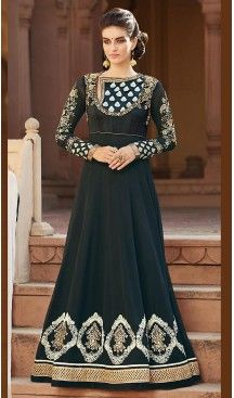 Navy #Blue Color #Georgette Long Anarkali Style Churidar Kameez | FH501876680 #anarkali , #salwar , #kameez , #dresses , #suits , #designer , #colors , #pinterest , #Shopping , #fashion , #boutique , #online , #heenastyle , #indian , #style , @heenastyle , #churidar , #likes , #abaya , #pakistani, #clothing , #womens , #mens , #kids , #boys , #girls
