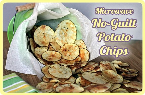 Microwave No-Guilt Potato Chips -- healthy, easy, crispy & delicious; make them any flavor you like!