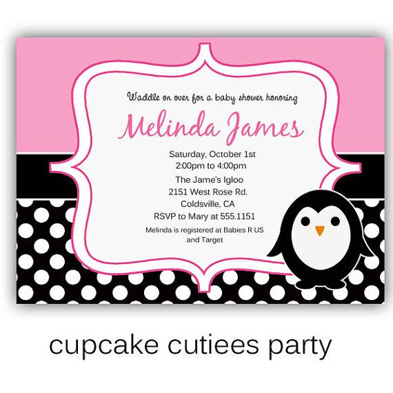 Penguin Party  Baby Shower  Digital Custom by CupcakeCutieesParty, $10.00