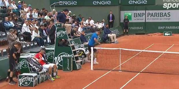 Roland Garros: Benoît Paire éclate sa raquette