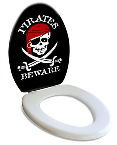 Pirate Toilet Seat For Any Skull Bathroom Look