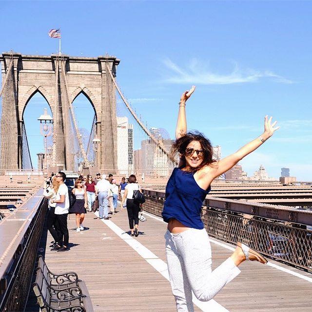 Ozge Hiz / Brooklyn Bridge, New York, traveling, summer