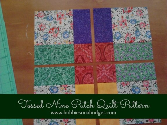This Tossed Nine Patch Quilt is so easy, but beautiful!