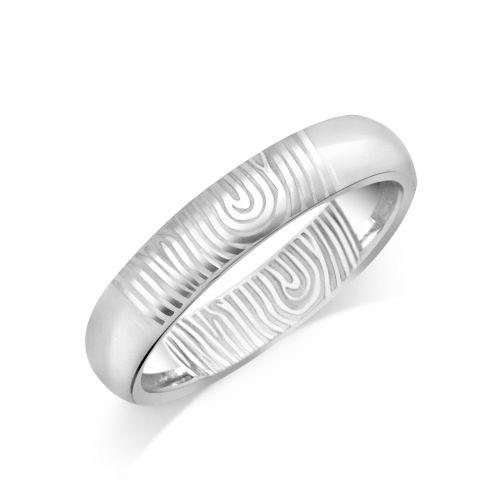 House of Williams 9ct White Gold Ladies 4mm Fingerprint Wedding Ring http://www.howweddingrings.co.uk/Products/11316-house-of-williams-9ct-white-gold-ladies-4mm-fingerprint-wedding-ring.aspx £237.00 #weddingring