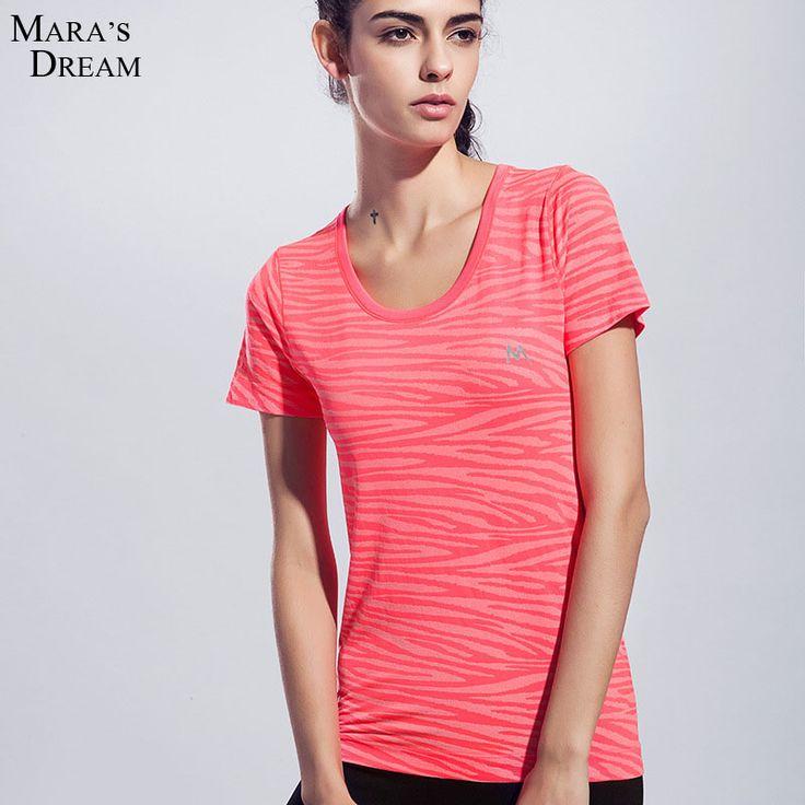 Женские Спортивные Футболки движение быстросохнущие фитнес с коротким рукавом Известный фитнес-yoga T-shirt Тройники и Топы 4 цвета летом