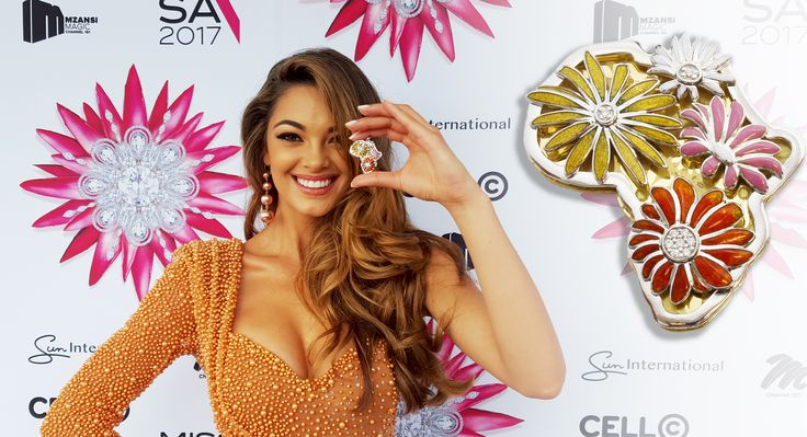 Miss South Africa Demi-Leigh Nel-Peters will be taking a piece of South African jewellery as the National Gift to the Miss Universe 2017. This year the gift will represent the best of South African natural resources.