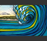 Outer Reef - Waves come a crashing | Heather Brown Art