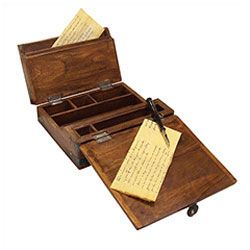 Antique English Writing Desk... Used for corresponding while traveling
