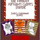 Fall Bundle of Holiday Alphabet Games(differentiated instruction) - Shelly's Classroom Secrets