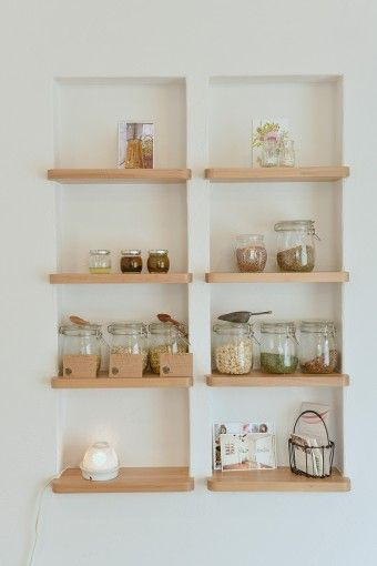 Bathroom Wall Shelves best 20+ recessed shelves ideas on pinterest | minimalist library