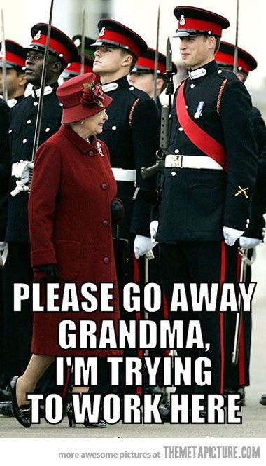 I just love the Queen so much.: Queen Elizabeth, Prince Harry, Prince Williams, British Royals, The Queen, Funny Stuff, Life Humor, Smile, Royals Families