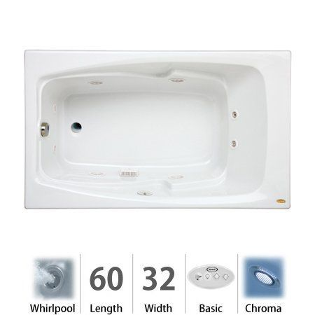 Buy The Jacuzzi Almond Direct. Shop For The Jacuzzi Almond X Cetra® Drop In  Comfort Whirlpool Bathtub With 8 Jets, Basic Controls, Chromatherapy,  Heater, ...