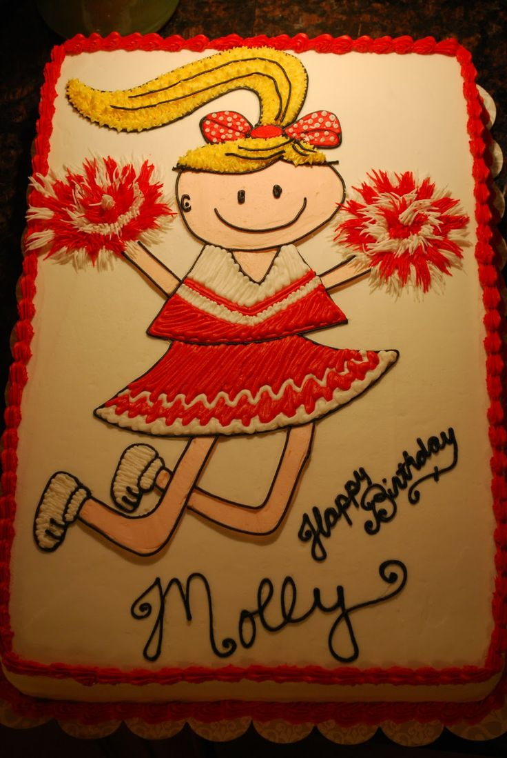 cheerleading cake | Cheerleader Cake! It looks like me and its my name LOL