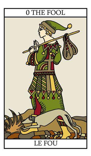 The Fool  http://tarot-lovers.com/images/the-fool-300.jpg